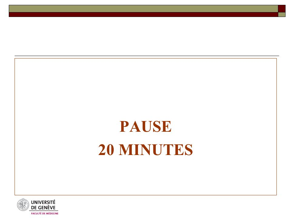 PAUSE 20 MINUTES
