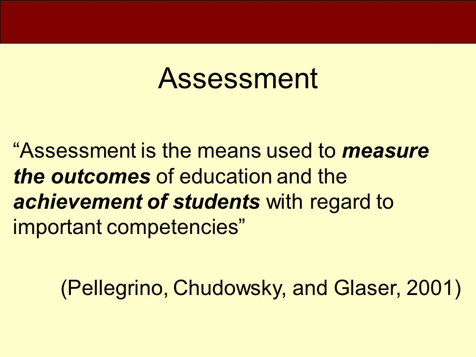 Assessment of Academic Advising Institute Mapping Plenary Three *The process of determining when, where, and through what experiences the outcomes for advising will be accomplished over the student's academic career.