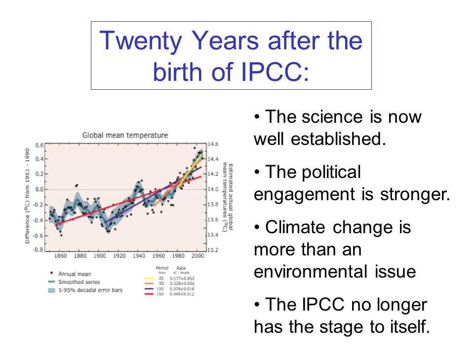 Twenty Years after the birth of IPCC: The science is now well established.