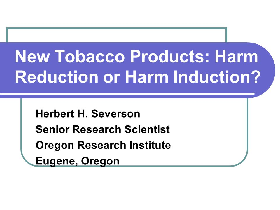 Harm Reduction Definition Harm reduction refers to minimizing harms and decreasing total morbidity and mortality, without completely eliminating tobacco and nicotine use Institute of Medicine study, 2001