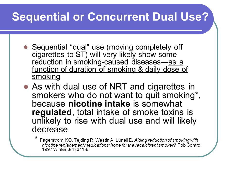 Sequential or Concurrent Dual Use.