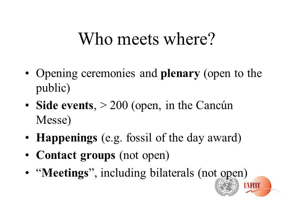 Who meets where.