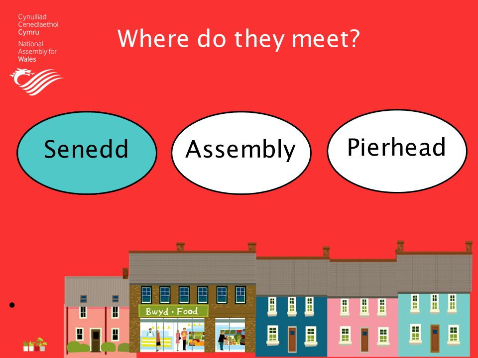 Where do they meet SeneddAssembly Pierhead Senedd