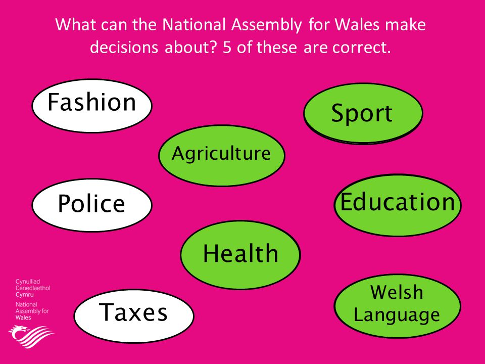 What can the National Assembly for Wales make decisions about.