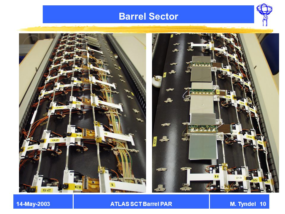 ATLAS SCT Barrel PARM. Tyndel 1014-May-2003 Barrel Sector