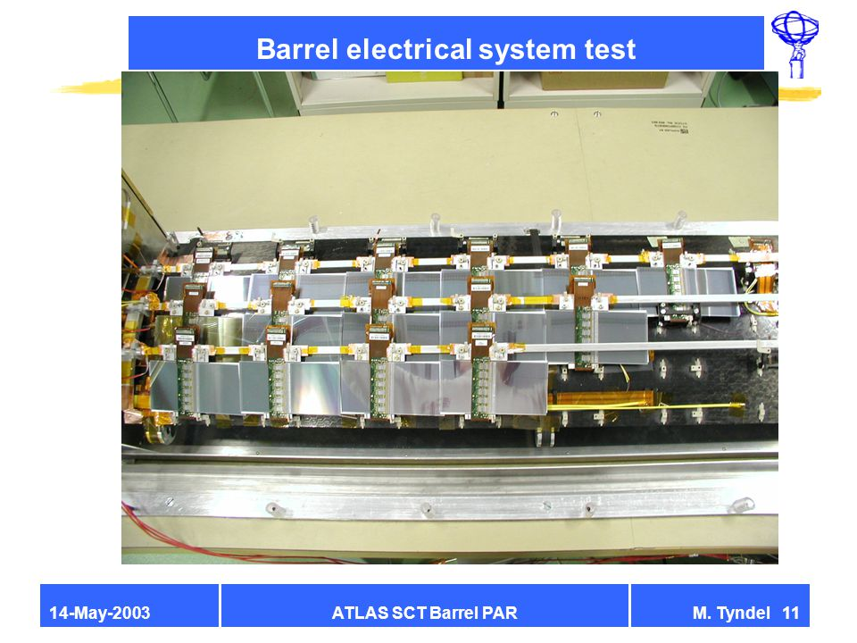 ATLAS SCT Barrel PARM. Tyndel 1114-May-2003 Barrel electrical system test