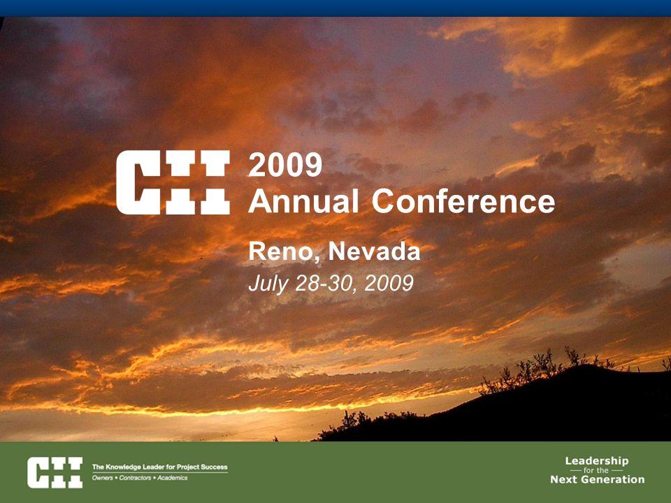 2009 Annual Conference Reno, Nevada July 28-30, 2009