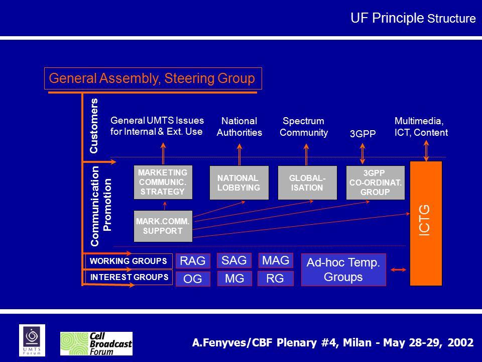 A.Fenyves/CBF Plenary #4, Milan - May 28-29, 2002 RAG MAG SAG 3GPP CO-ORDINAT.