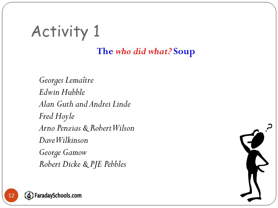 Activity 1 12 The who did what.