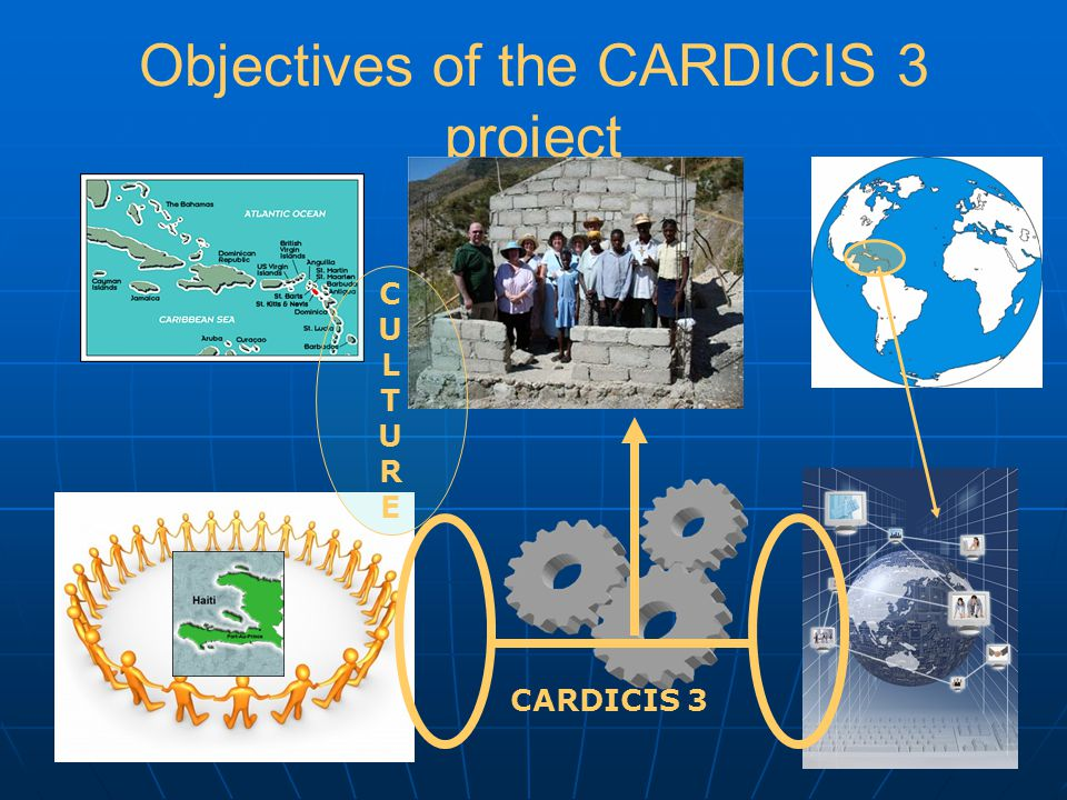 Objectives of the CARDICIS 3 project CARDICIS 3 CULTURECULTURE