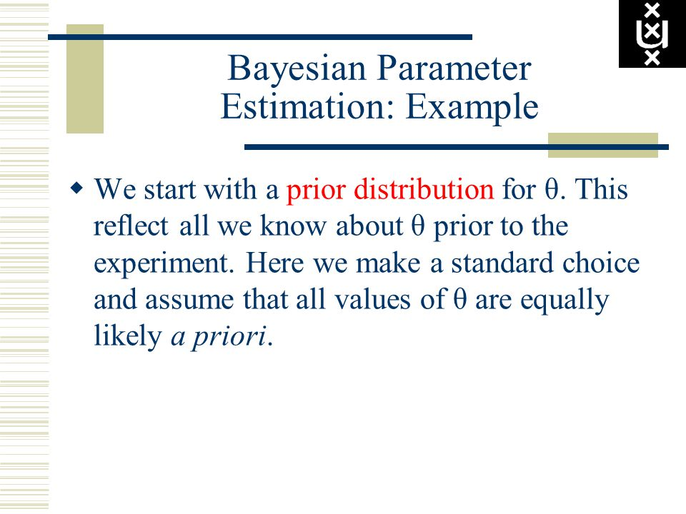 Bayesian Parameter Estimation: Example  We start with a prior distribution for θ.