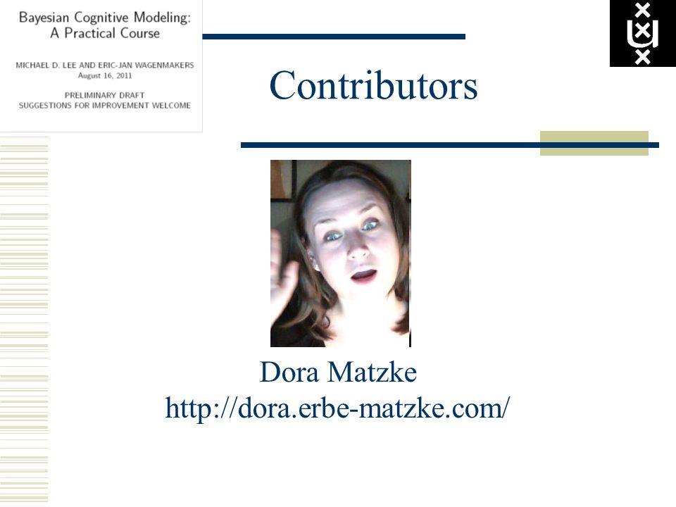 Contributors Dora Matzke http://dora.erbe-matzke.com/