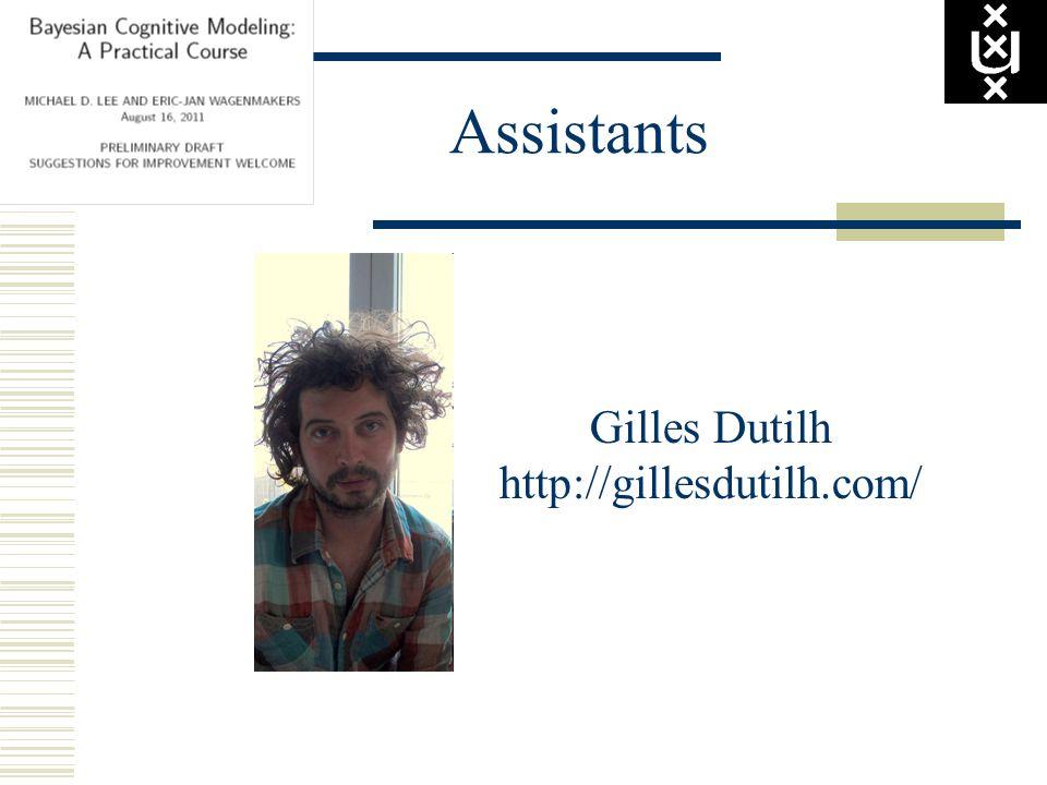 Assistants Gilles Dutilh http://gillesdutilh.com/