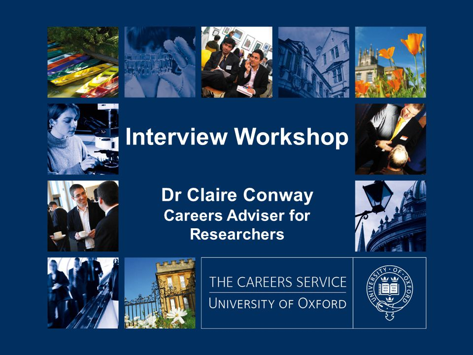 Dr Claire Conway Careers Adviser for Researchers Interview Workshop