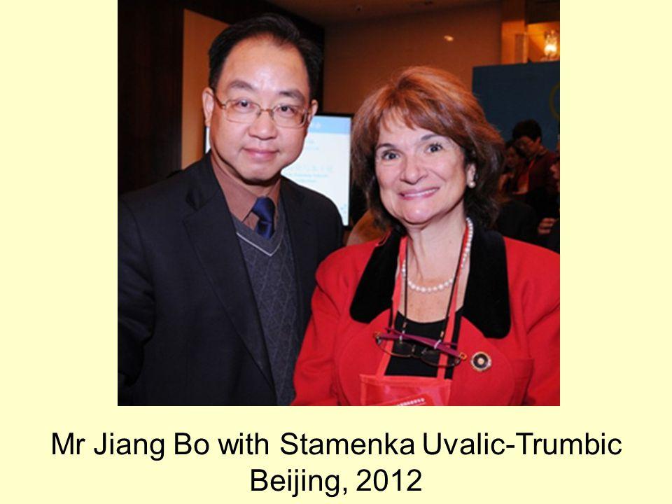 Mr Jiang Bo with Stamenka Uvalic-Trumbic Beijing, 2012