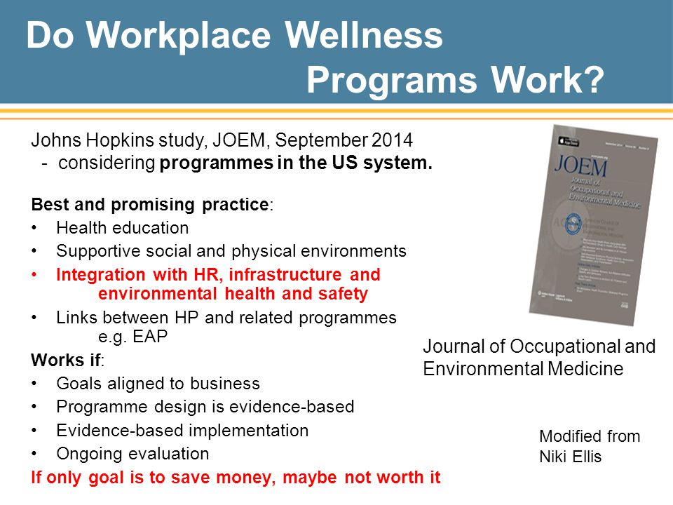 Do Workplace Wellness Programs Work.