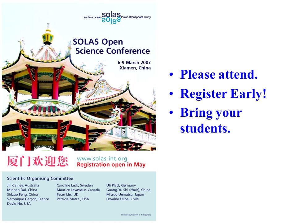 Please attend. Register Early! Bring your students.
