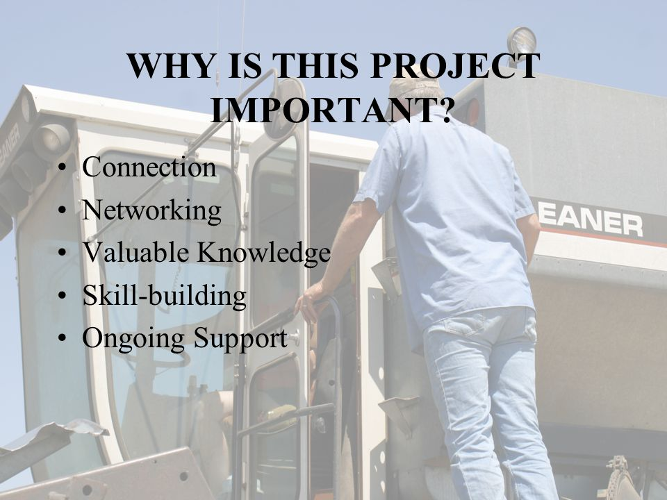 WHY IS THIS PROJECT IMPORTANT.