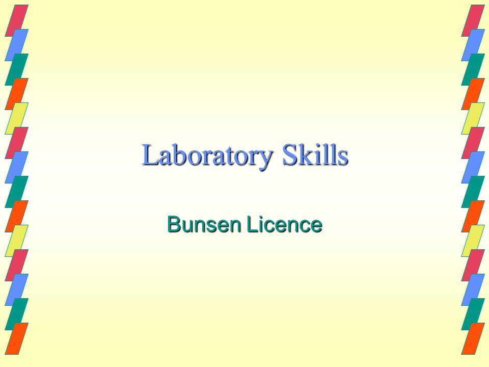 Laboratory Skills Bunsen Licence