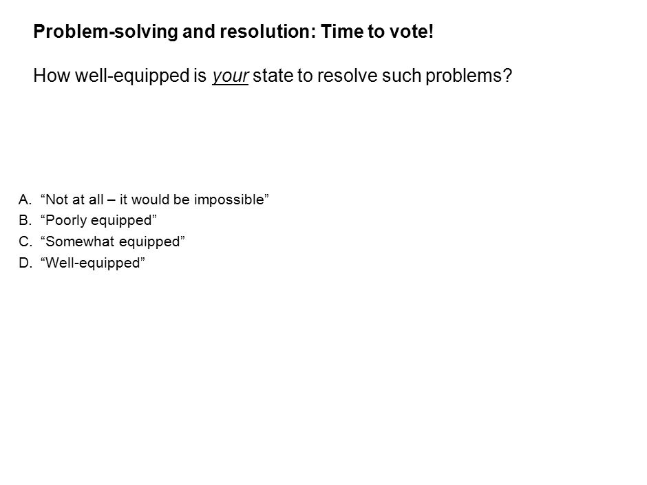 32 Problem-solving and resolution: Time to vote.