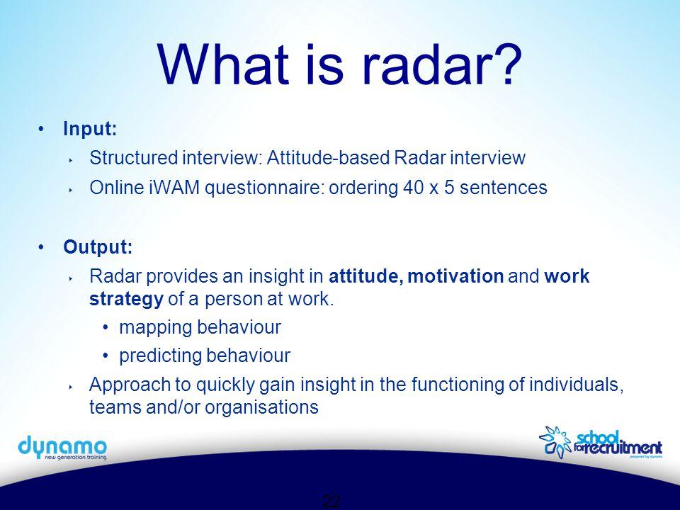 22 What is radar.