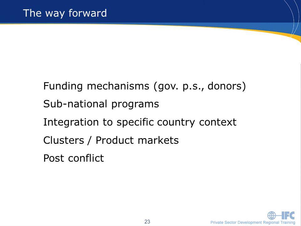 23 The way forward 23 Funding mechanisms (gov.