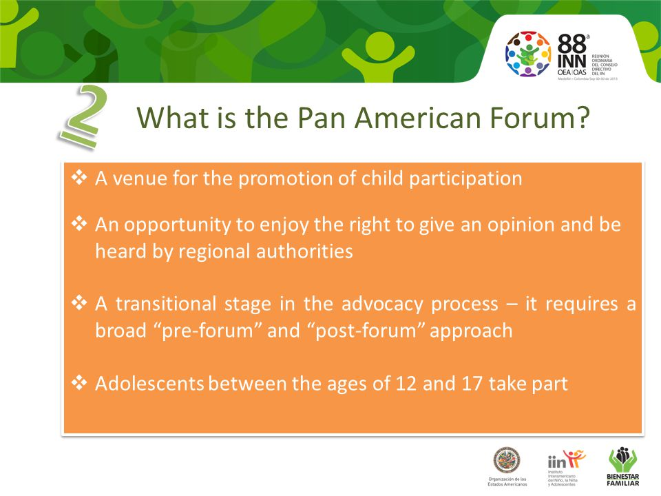 What is the Pan American Forum.