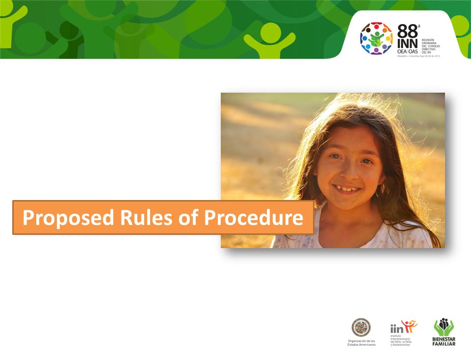 Proposed Rules of Procedure