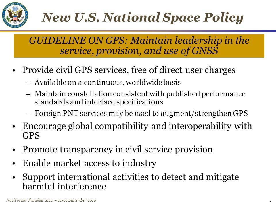 NaviForum Shanghai 2010 – 01-02 September 2010 Planned GNSS Global Constellations –GPS (24+) –GLONASS (30) –Galileo (27+3) –Compass (27+3 IGSO + 5 GEO) –GINS - Global Indian Navigation System (24) Regional Constellations –QZSS (3) –IRNSS (7) Satellite-Based Augmentations –WAAS (3) –MSAS (2) –EGNOS (3) –GAGAN (2) –SDCM (2) 3