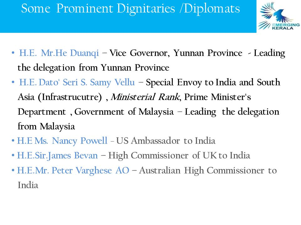 Some Prominent Dignitaries /Diplomats H.E.