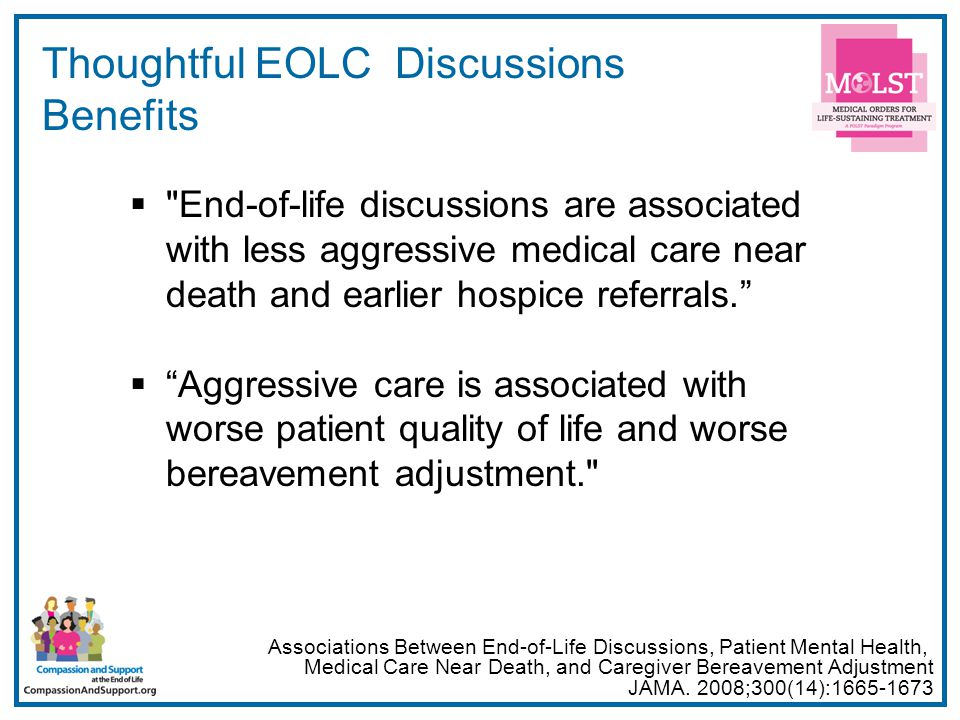 6 Thoughtful EOLC Discussions Benefits 