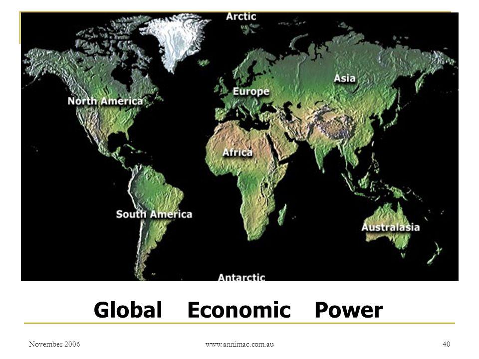 November 2006 www.annimac.com.au 40 Global Economic Power