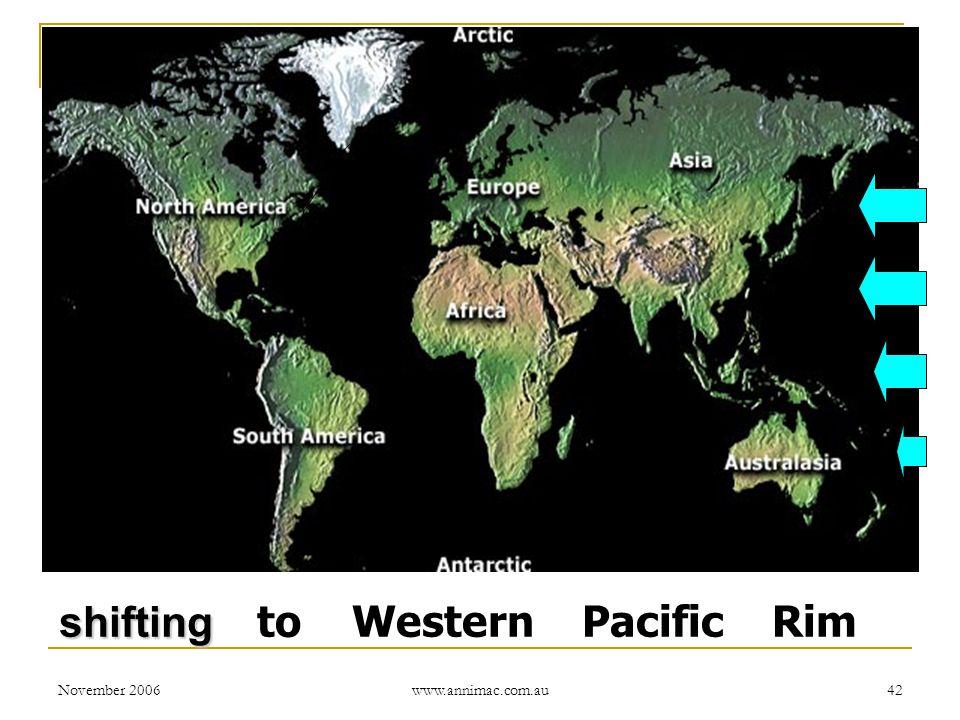 November 2006 www.annimac.com.au 42 shifting shifting to Western Pacific Rim