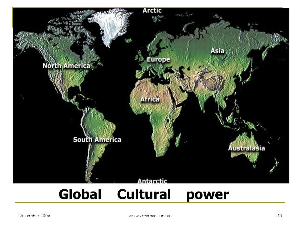 November 2006 www.annimac.com.au 43 Global Cultural power