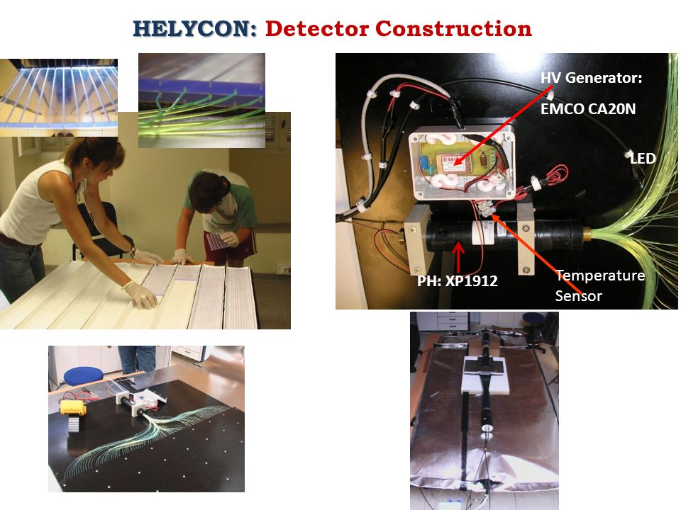 HV Generator: EMCO CA20N Temperature Sensor LED PH: XP1912 HELYCON: HELYCON: Detector Construction