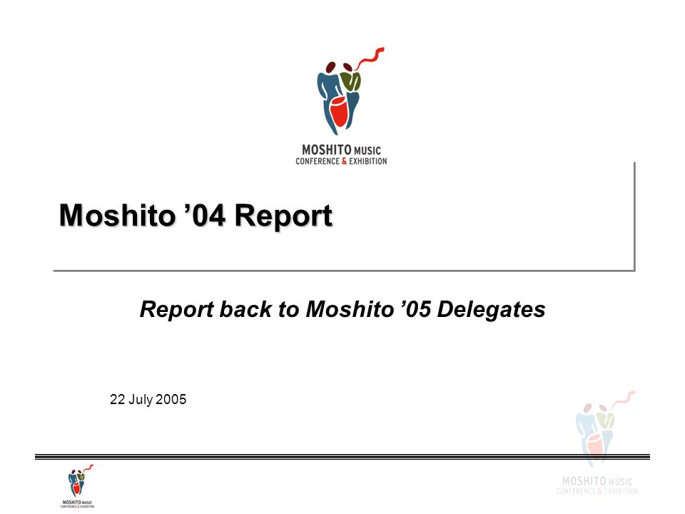Moshito '04 Report Report back to Moshito '05 Delegates 22 July 2005