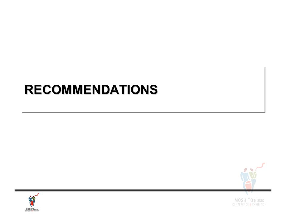 RECOMMENDATIONSRECOMMENDATIONS