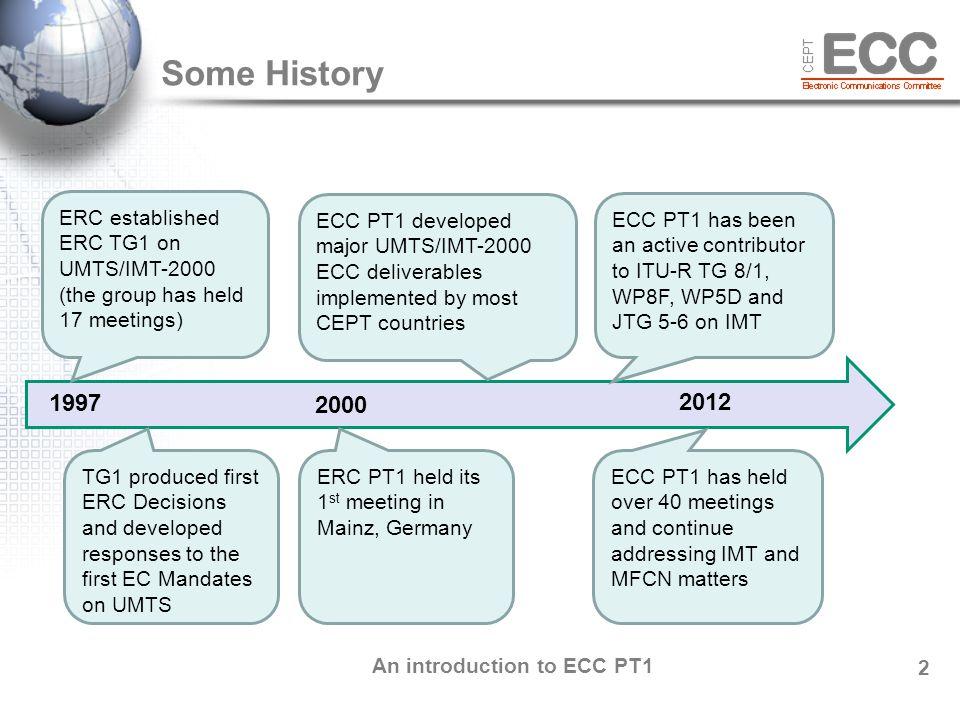 An introduction to ECC PT1 3 ECC PT1 Chairmen Mr.
