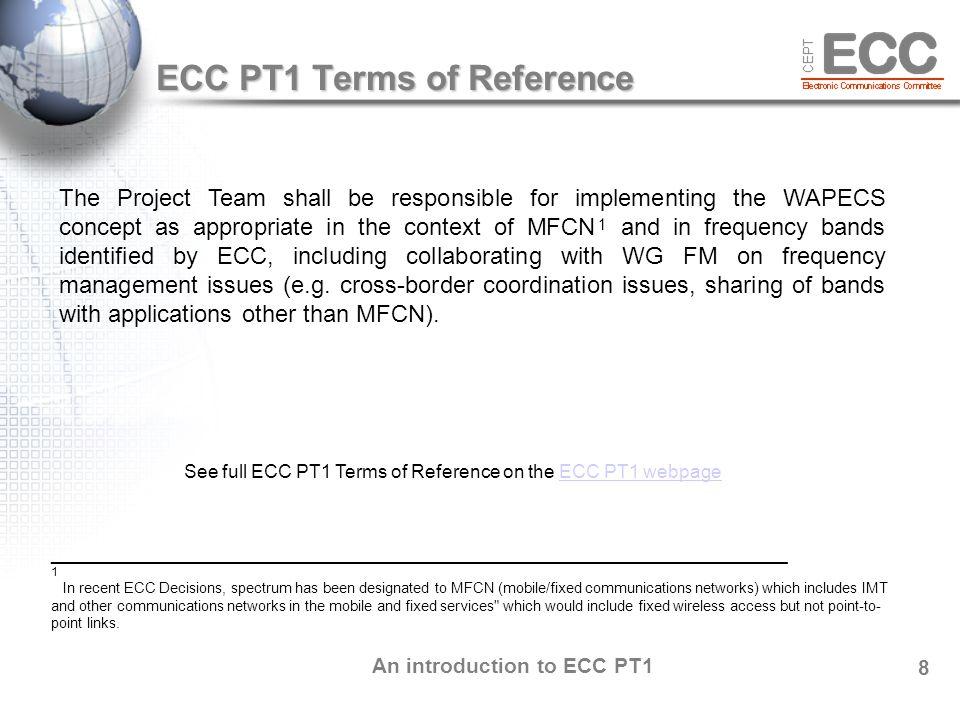 An introduction to ECC PT1 9 ECC PT1 Officials Chairman Mr.