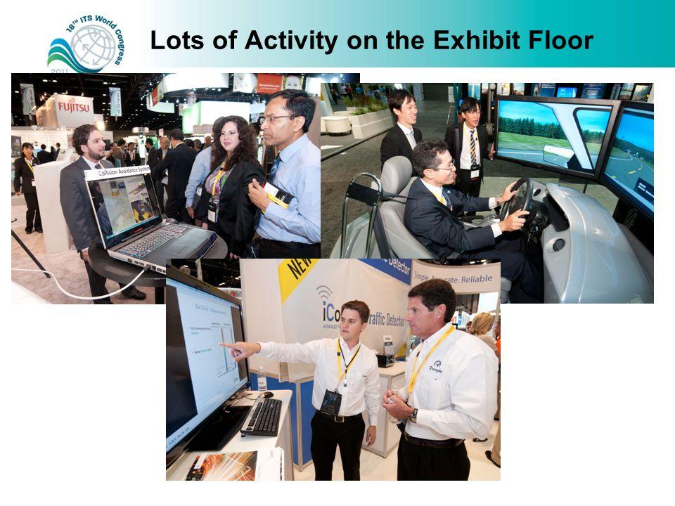 Lots of Activity on the Exhibit Floor