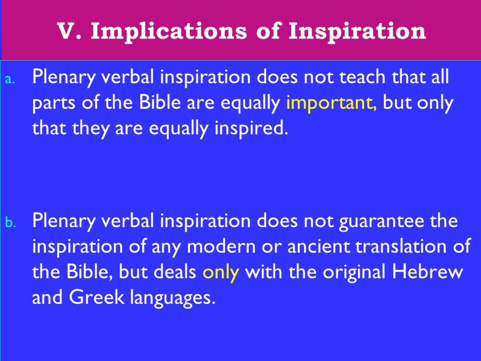 22 V. Implications of Inspiration a.