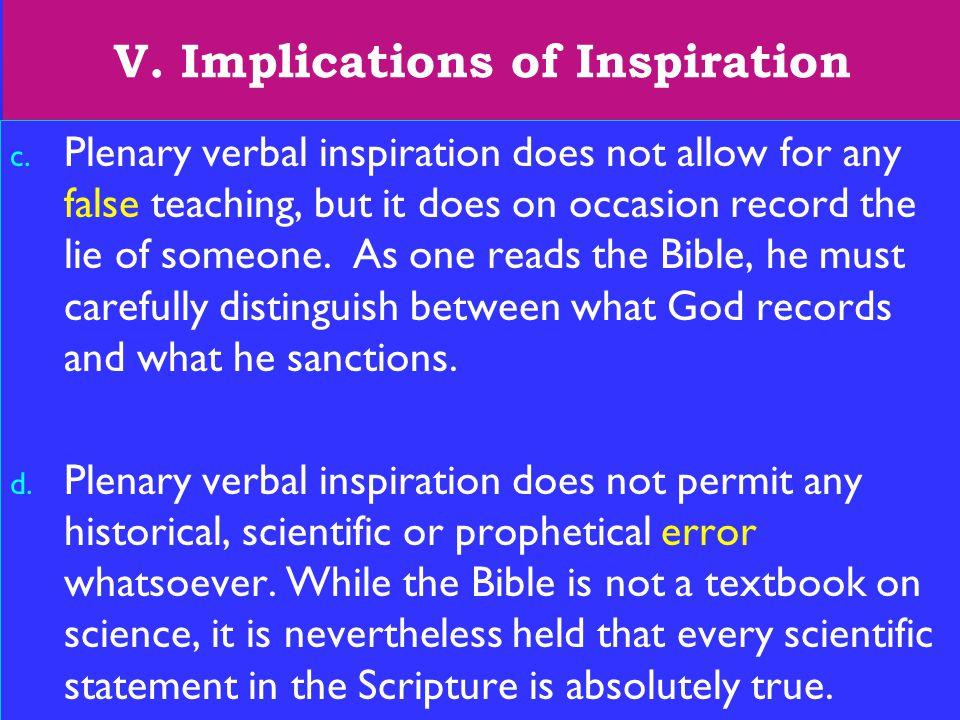 23 V. Implications of Inspiration c.