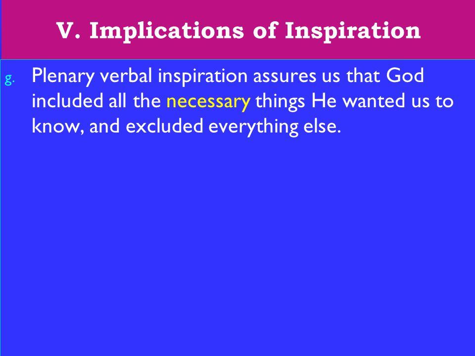 25 V. Implications of Inspiration g.