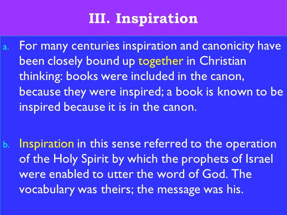 8 III. Inspiration a.