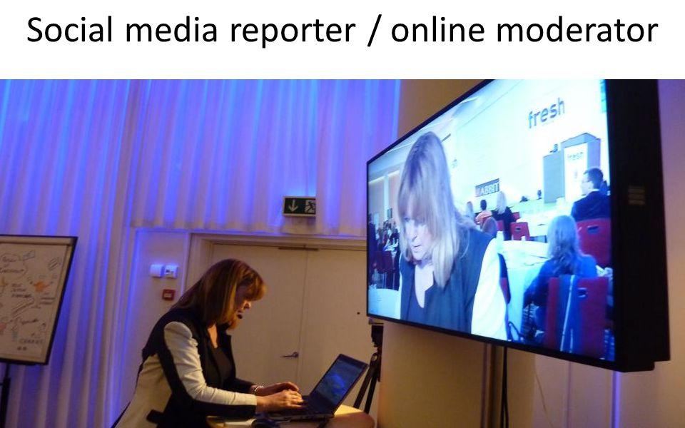 Social media reporter / online moderator