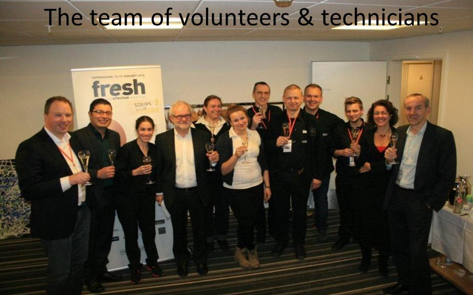 The team of volunteers & technicians