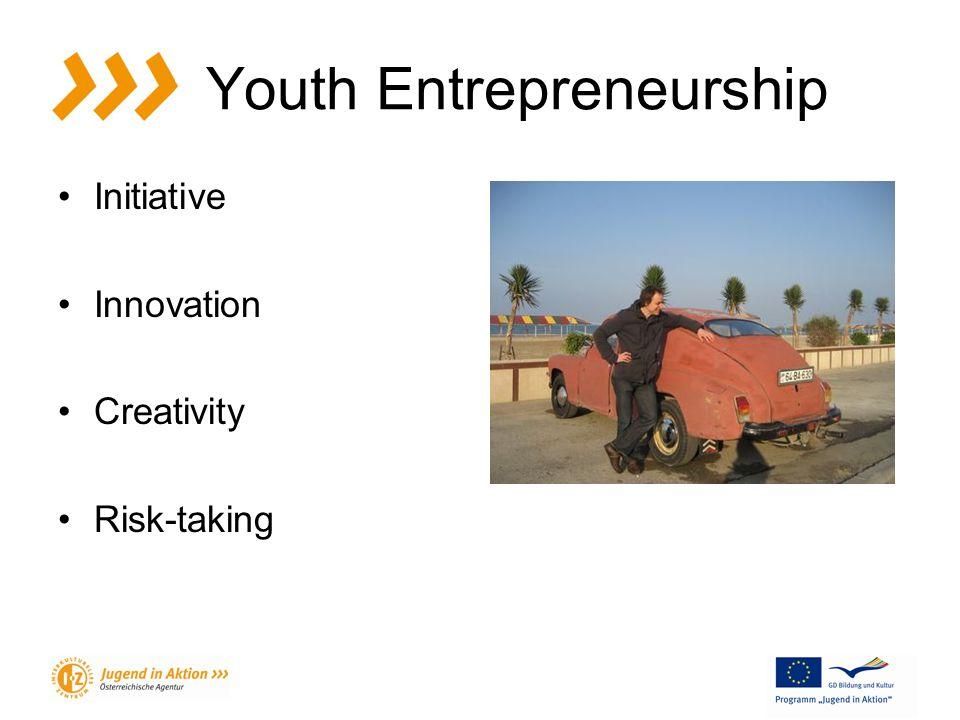 Youth Entrepreneurship Initiative Innovation Creativity Risk-taking