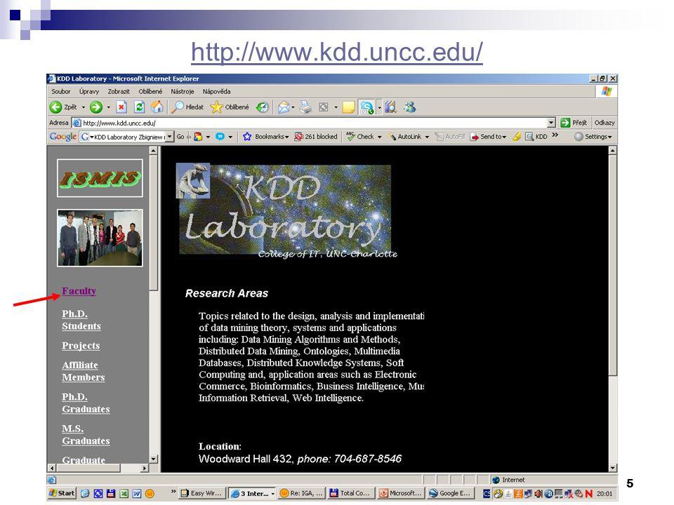 5 http://www.kdd.uncc.edu/