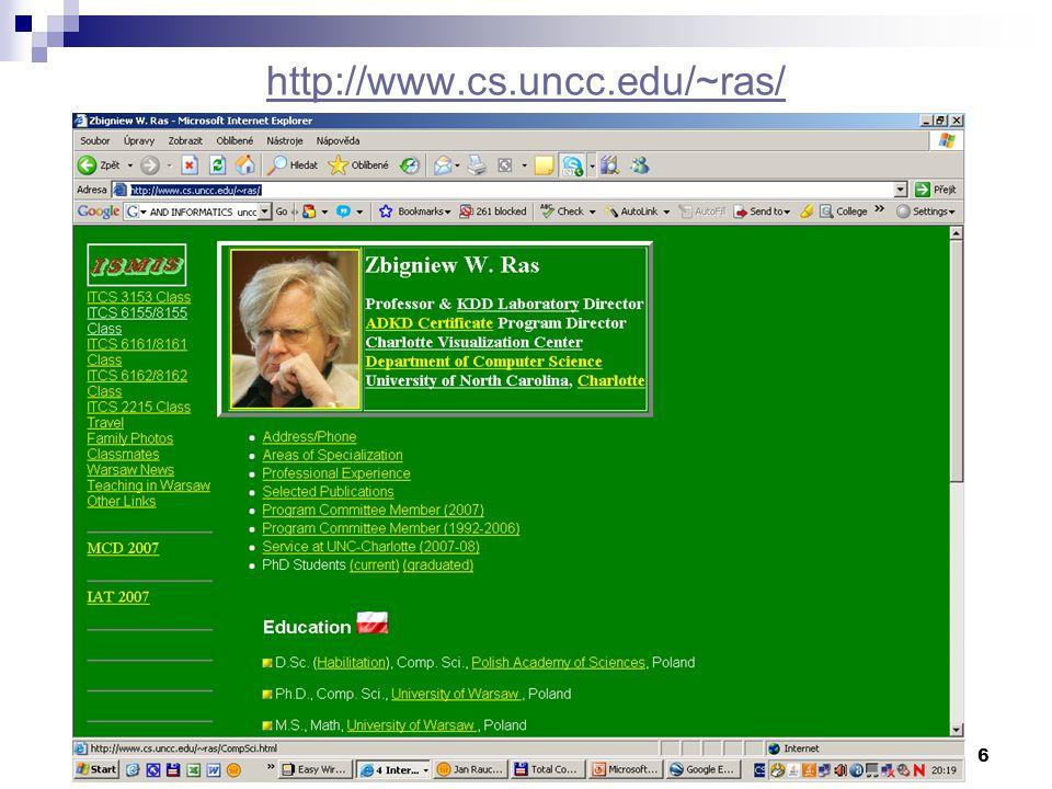 6 http://www.cs.uncc.edu/~ras/