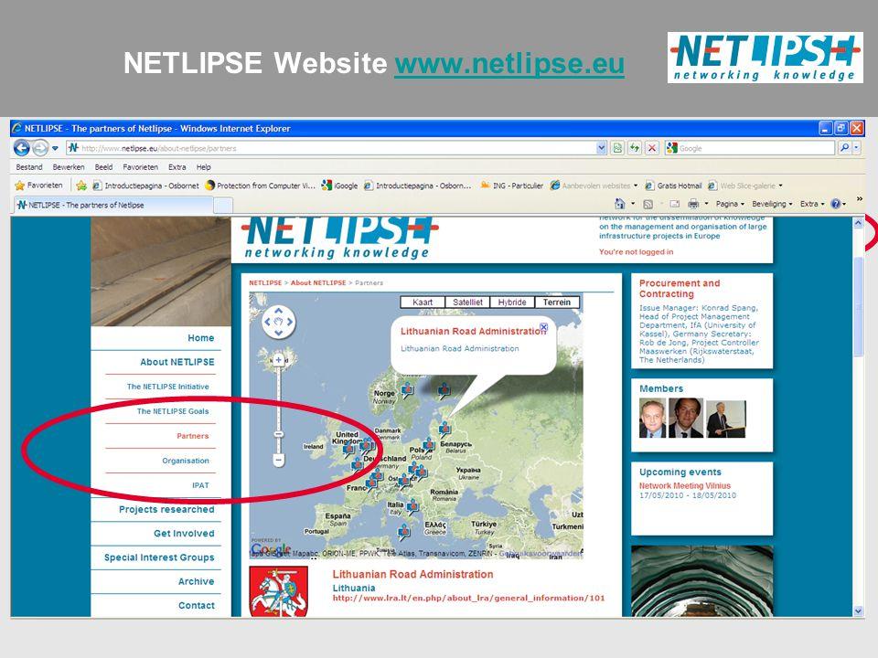 NETLIPSE Website www.netlipse.euwww.netlipse.eu